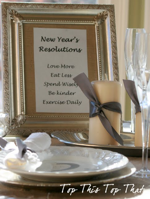 Another Idea for the New Years Table