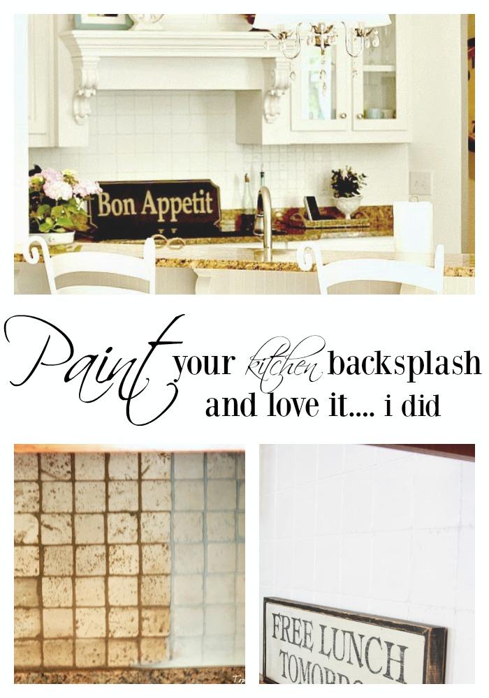 How to paint over tile backsplash