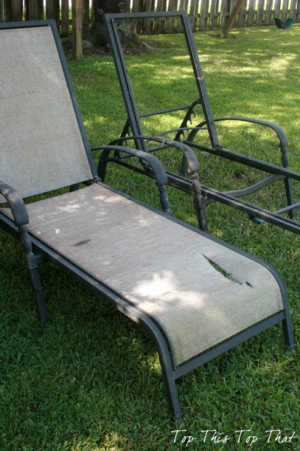 Recover your old chaise lounge chairs for Diy lounge chair
