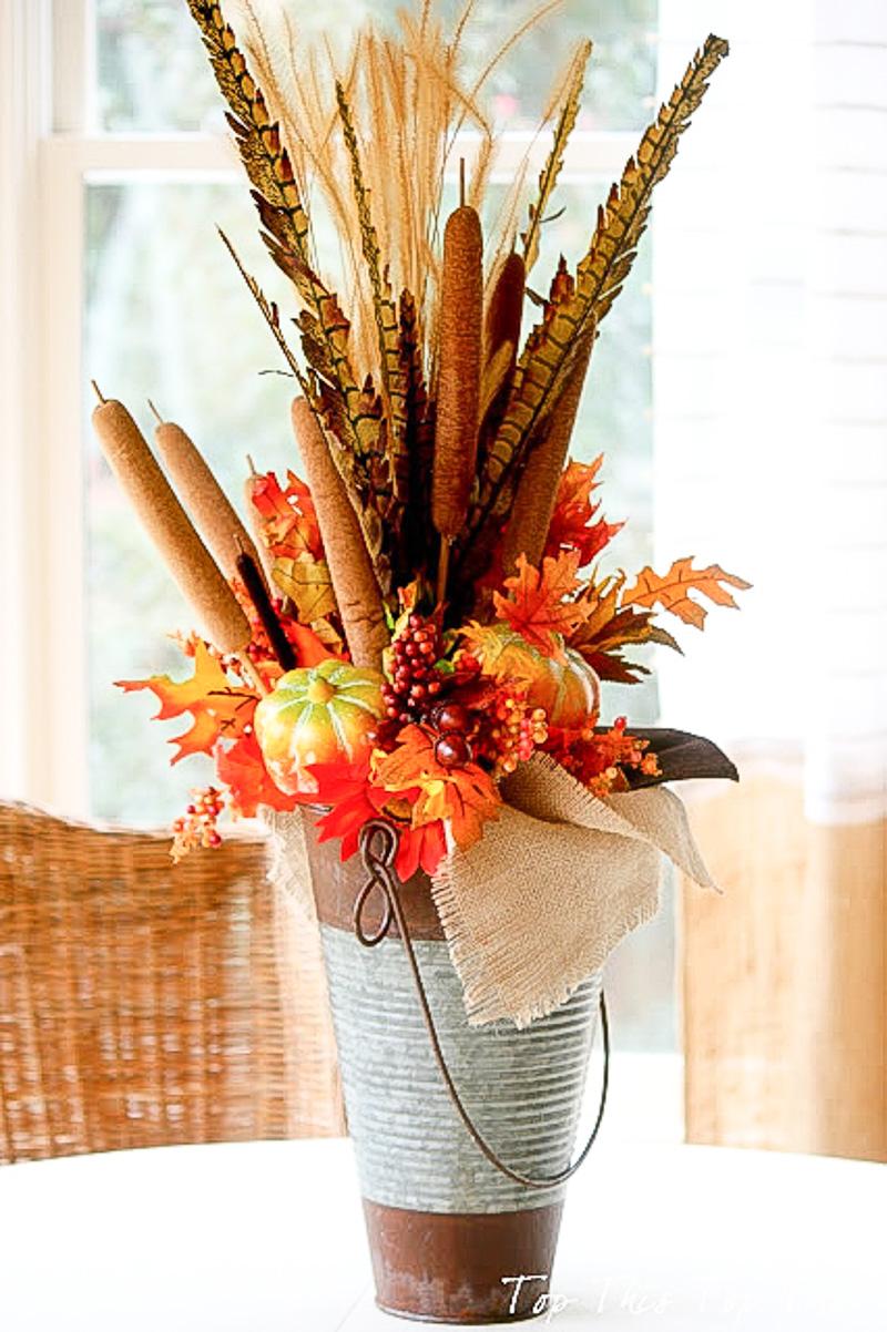 Композиции из осенних цветов своими руками фото