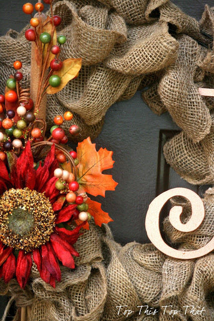 Burlap Wreath | Creative Thanksgiving Decorations You'll Wish You'd Thought Of First