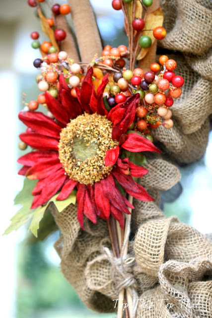 The Easiest Fall Burlap Wreath Tutorial
