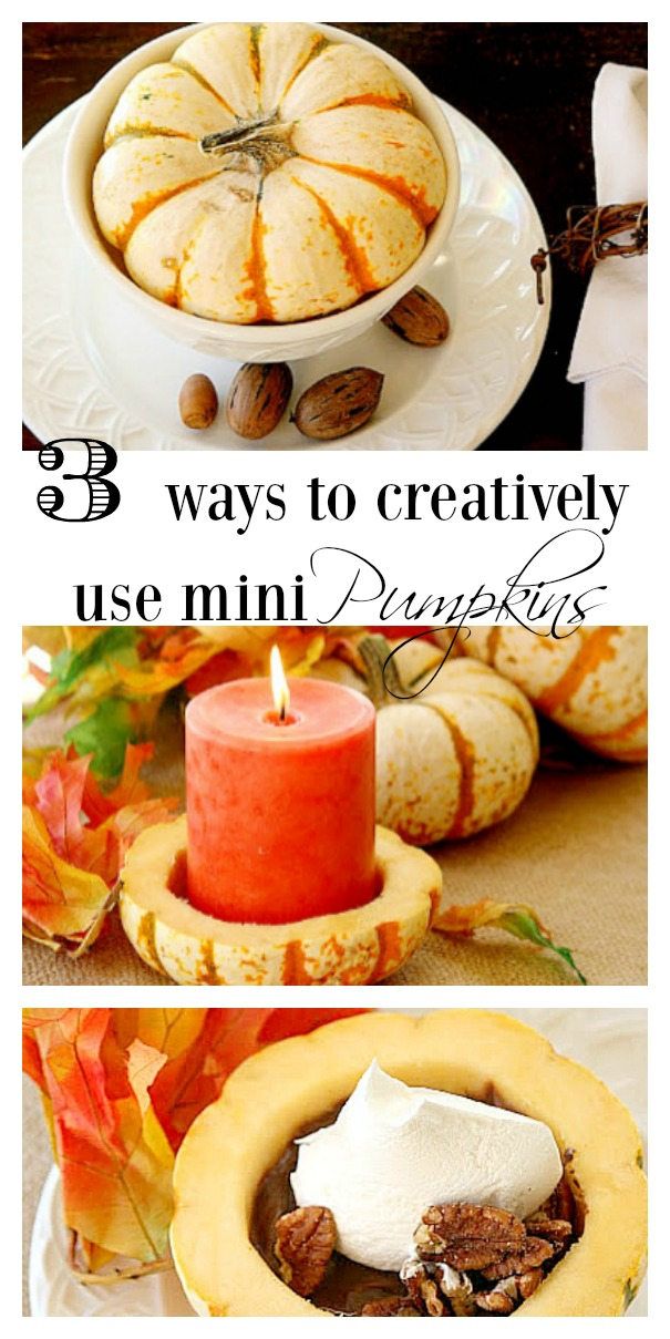 3 Ways to creatively use Mini Pumpkins this Fall