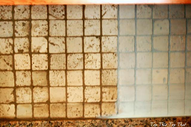 Painting a kitchen backsplash duke manor farm for Painting ceramic tile kitchen backsplash