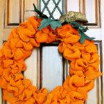 The Easiest Orange Burlap Pumpkin Wreath