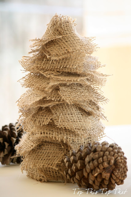 3 easy diy burlap trees that anyone can make duke manor farm for How to make burlap christmas decorations