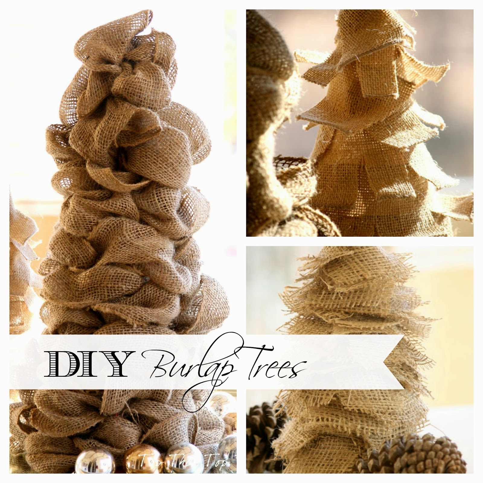 3 easy diy burlap trees that anyone can make duke manor farm for What can i make with burlap