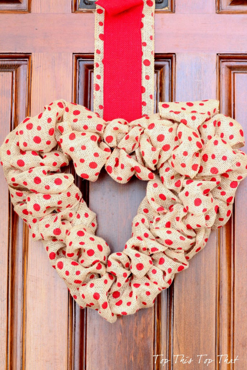 heart burlap wreath ideas