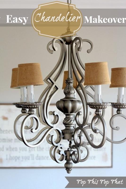 Chandelier makeover duke manor farm chandelier makeover aloadofball Image collections