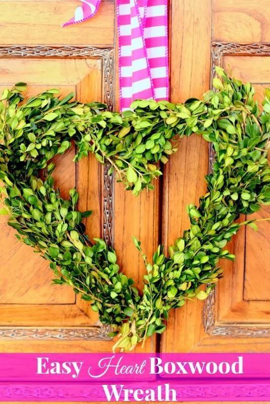 easy heart boxwood wreath