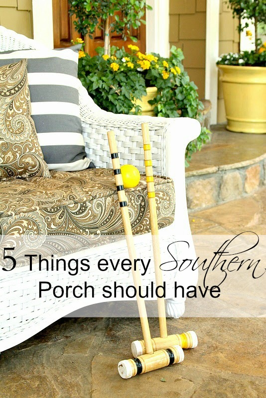 5 things every Southern porch should have