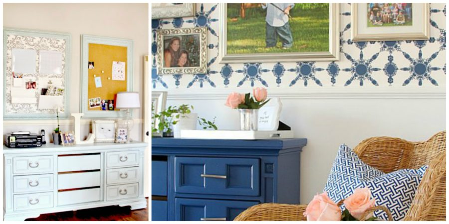 Credenza Makeover and Office Progress