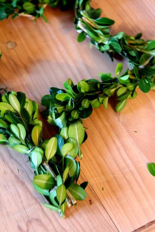 Easy Boxwood Star Wreaths