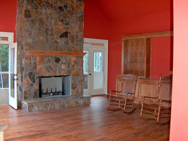 DIY Faux Wood Fireplace Screen - Duke Manor Farm