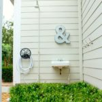 creating an outdoor shower area