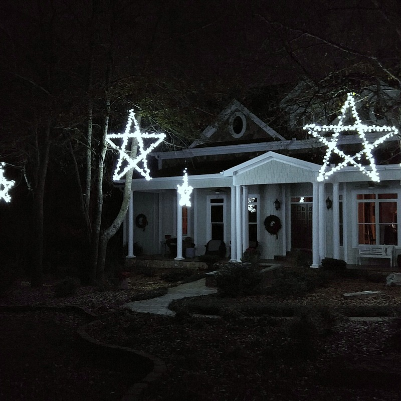 diy outdoor wooden lighted stars star light - Outdoor Christmas Lights Stars