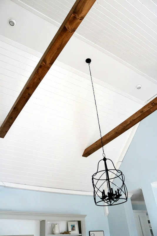 wood plank ceiling reveal