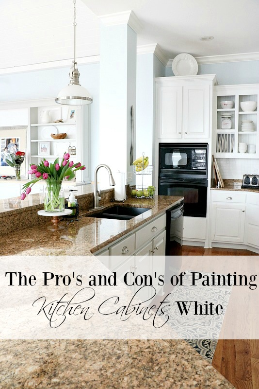 pros and cons of painting kitchen cabinets white duke manor farm rh dukemanorfarm com how to paint your dark cabinets white how to paint your oak kitchen cabinets white
