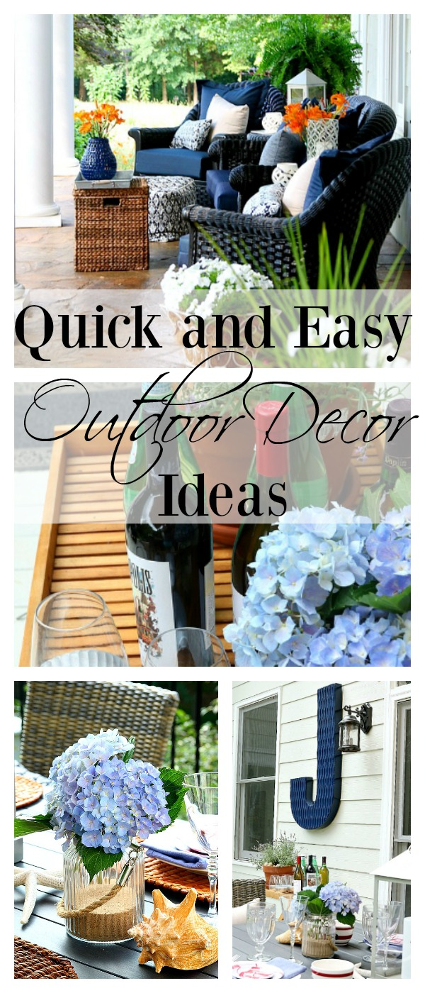 Quick And Easy Backyard Ideas : Quick and Easy Outdoor Decor Ideas that you can do this afternoon
