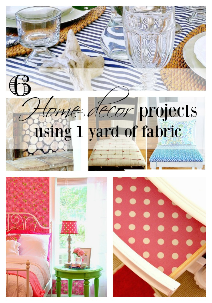 home decor fabric projects 6 project ideas using 1 yard of fabric duke manor farm 10980