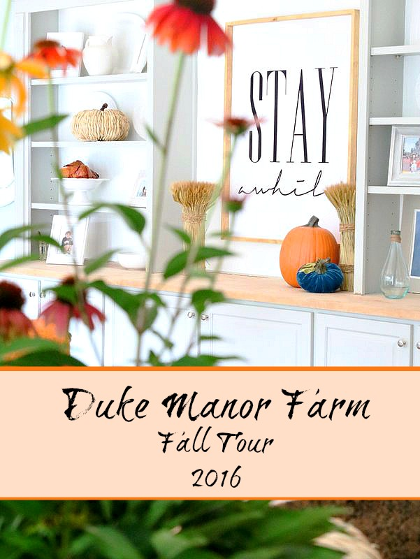 Fall Tour 2016 at Duke Manor Farm