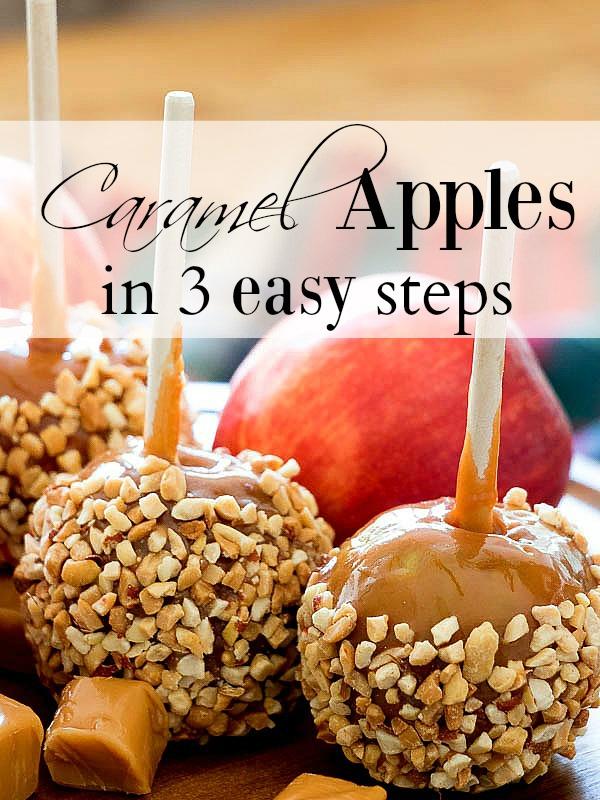 3 Step Caramel Apples