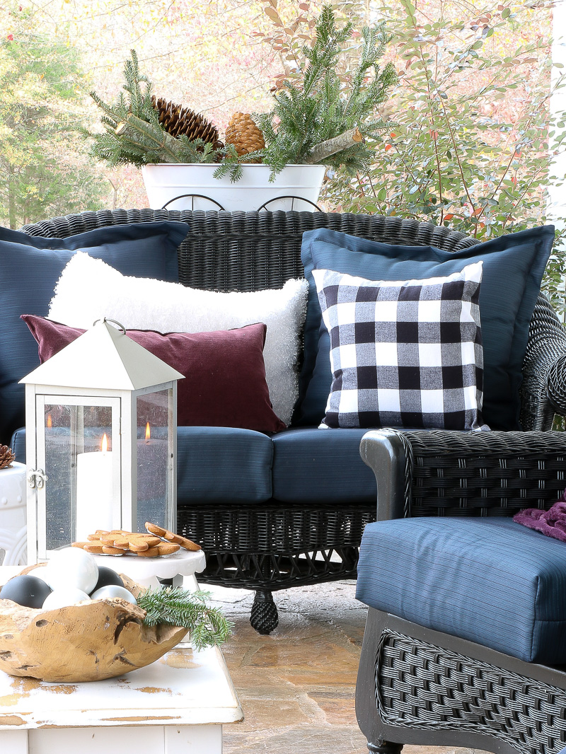 How to style a winter woodland look on your front porch