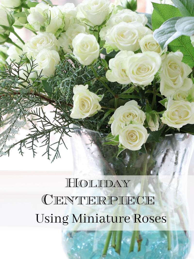 Holiday Centerpiece using miniature roses