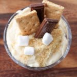 Indoor s'mores snack with pudding