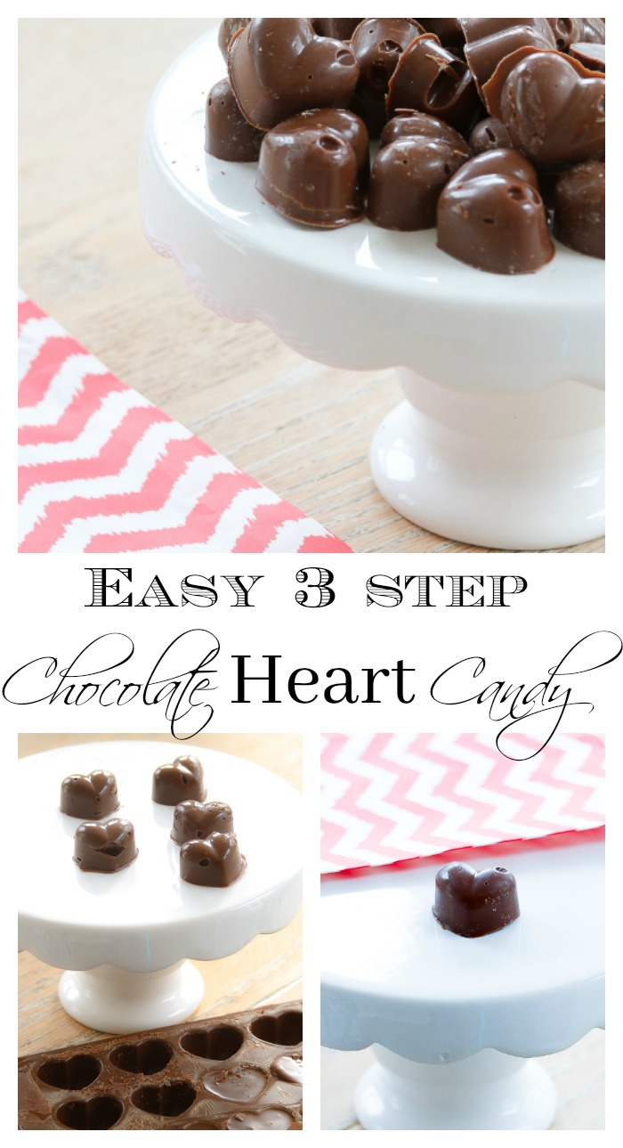 Make Chocolate Heart Candy in 3 easy steps