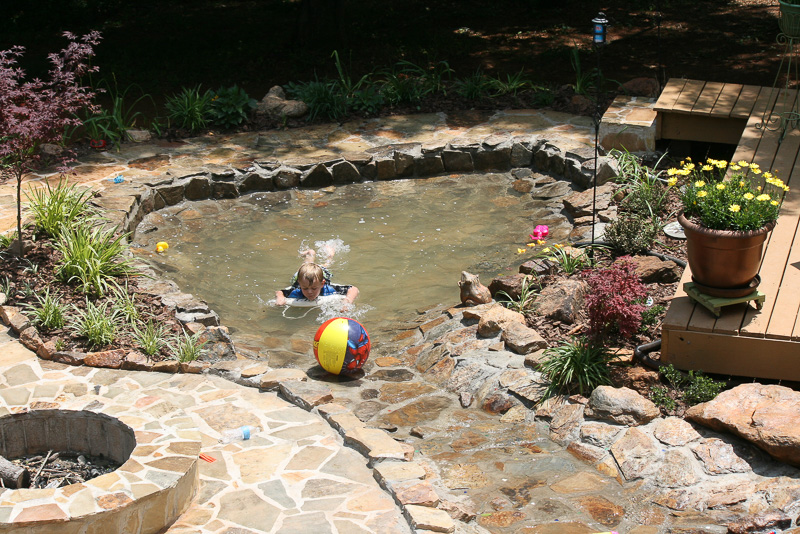 Backyard duck pond outdoor goods for Creating a pond