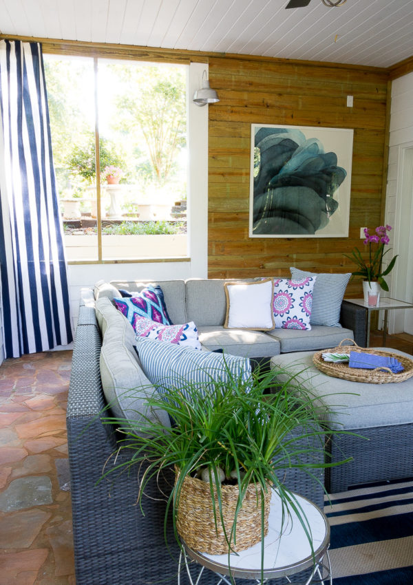 Screen Porch Reveal….with a pop of color