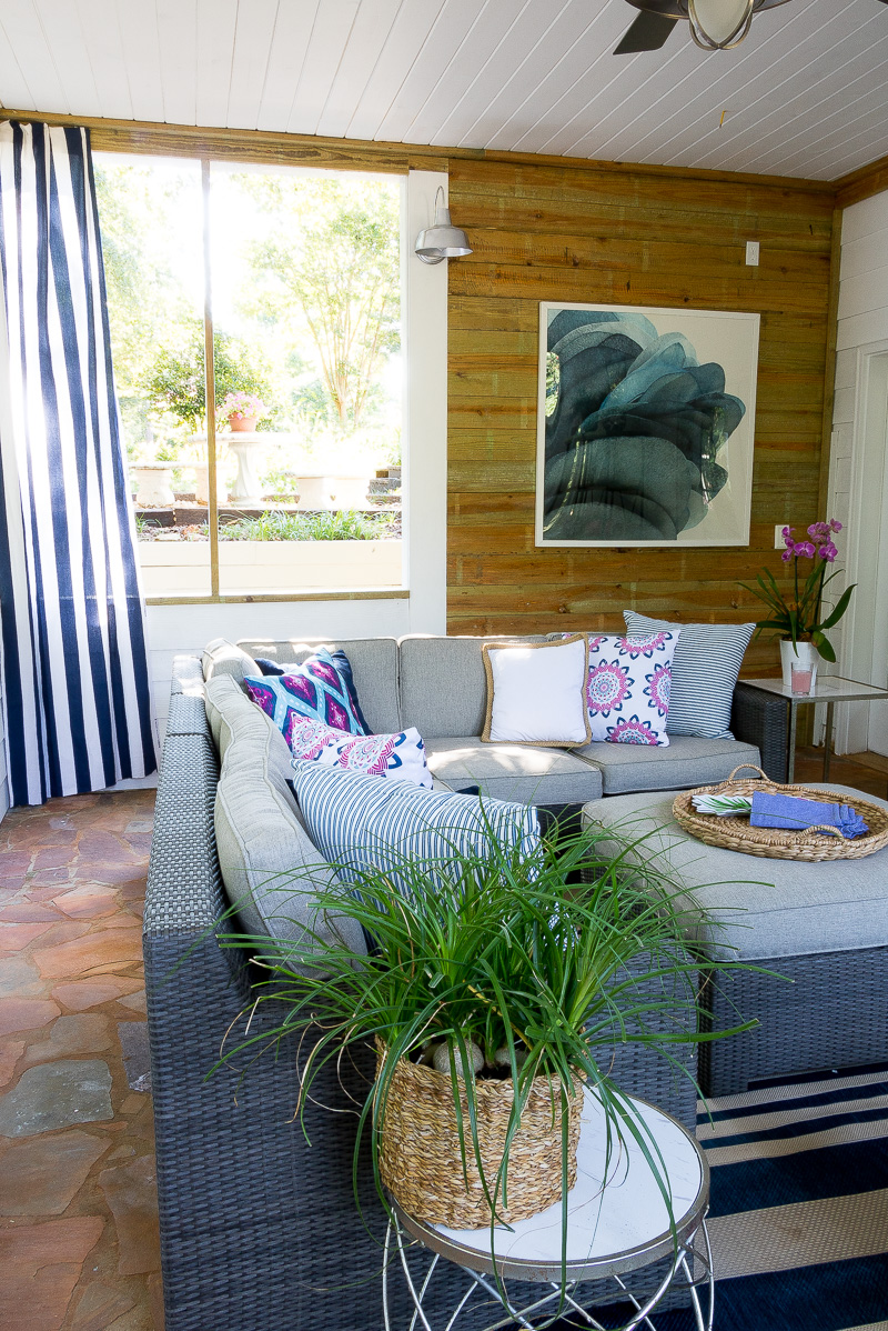 Screen Porch Reveal....with a pop of color