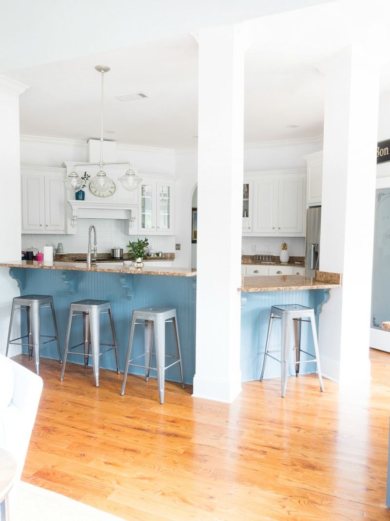A gorgeous blue cabinet color and my latest update to the kitchen