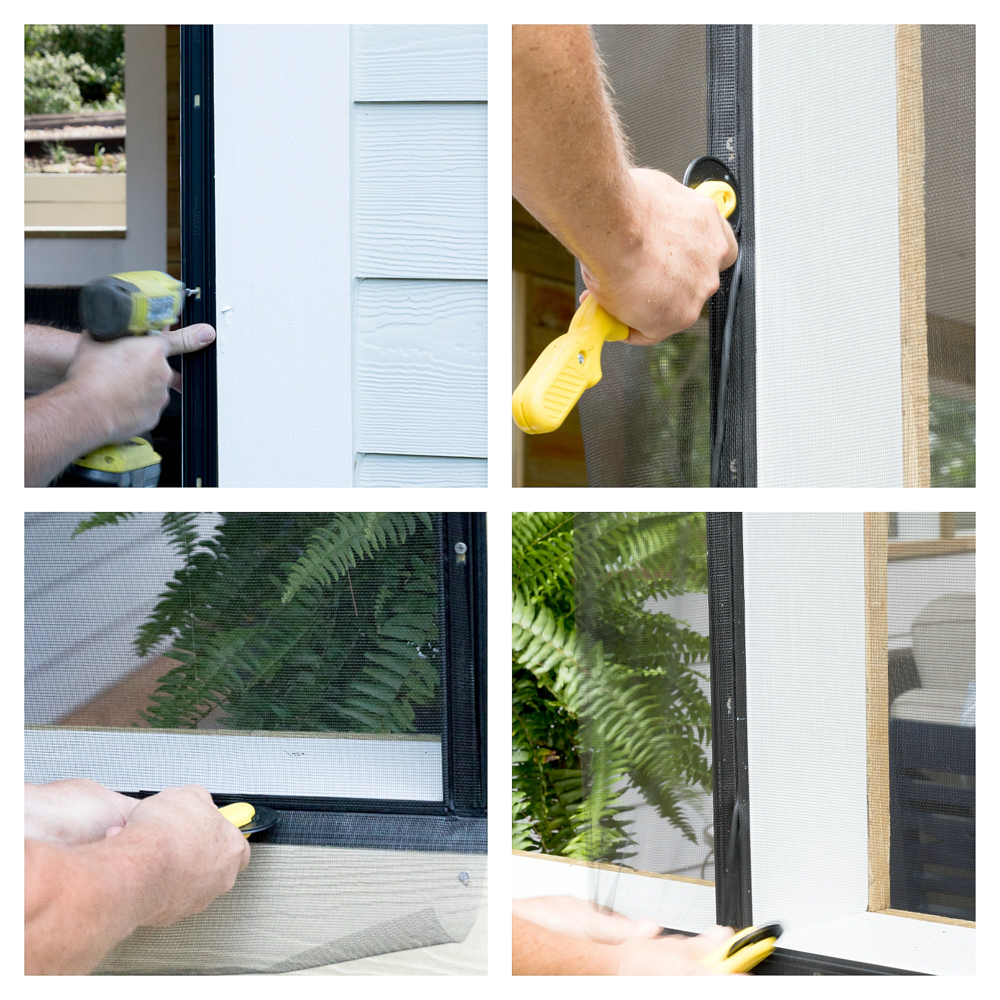 Easy to install screen panels using Screen Tight