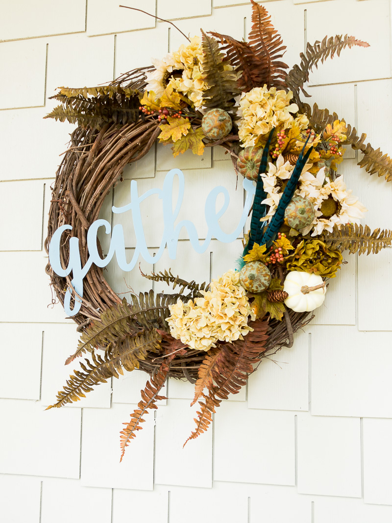 How to style your fall porch to match your wreath