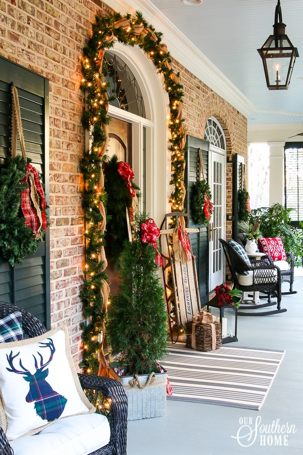 christmas front porch 2017 our southern home 8507 - Christmas Front Porch