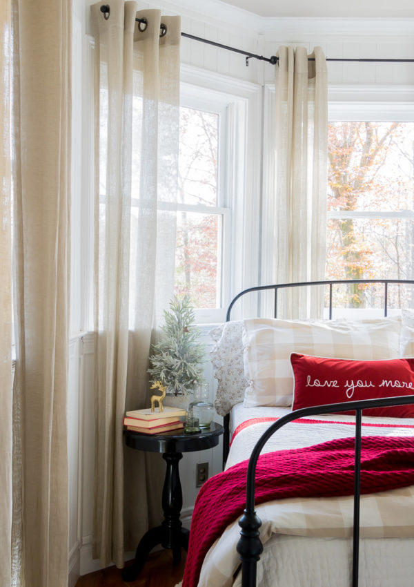 Adding cheer to a small cozy bedroom