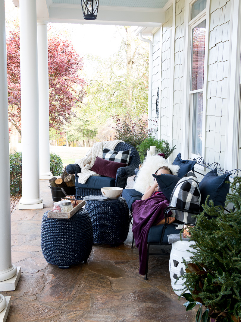 Styling a front porch to last through the Winter