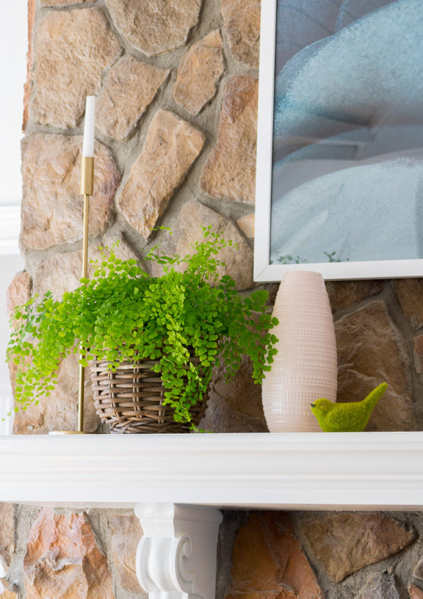 Adding a touch of blush to your Spring Mantel