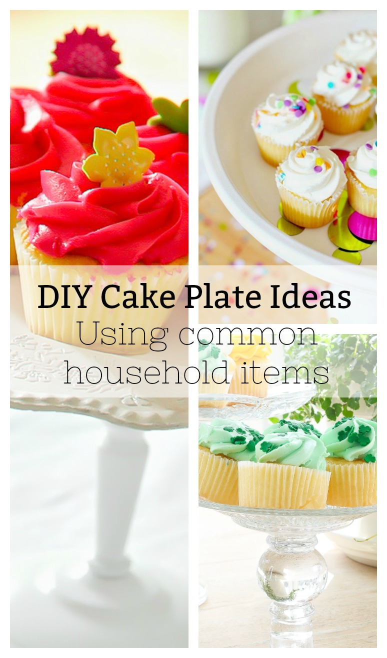 Make These Cake Plates Using Common Items From Around The House