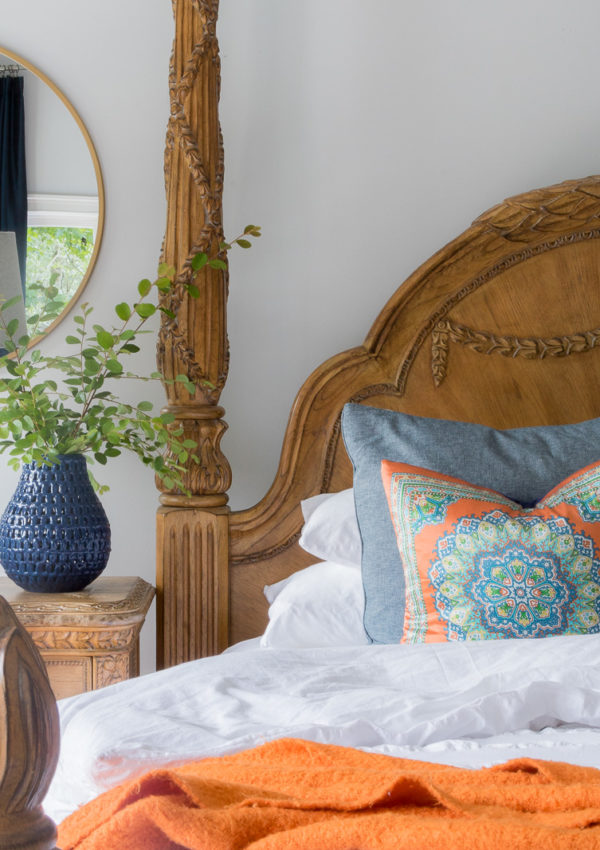 Create four different looks using the same throw pillow