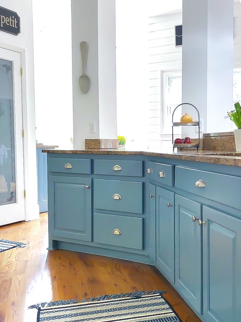 Blue Kitchen Island Reveal and some painting advice - Duke Manor Farm