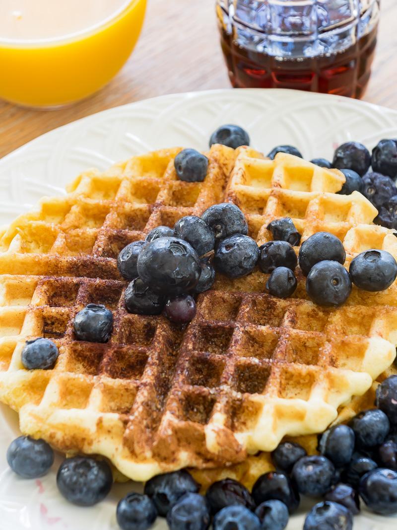 Cinnamon and Sugar Belgian Waffle Recipe