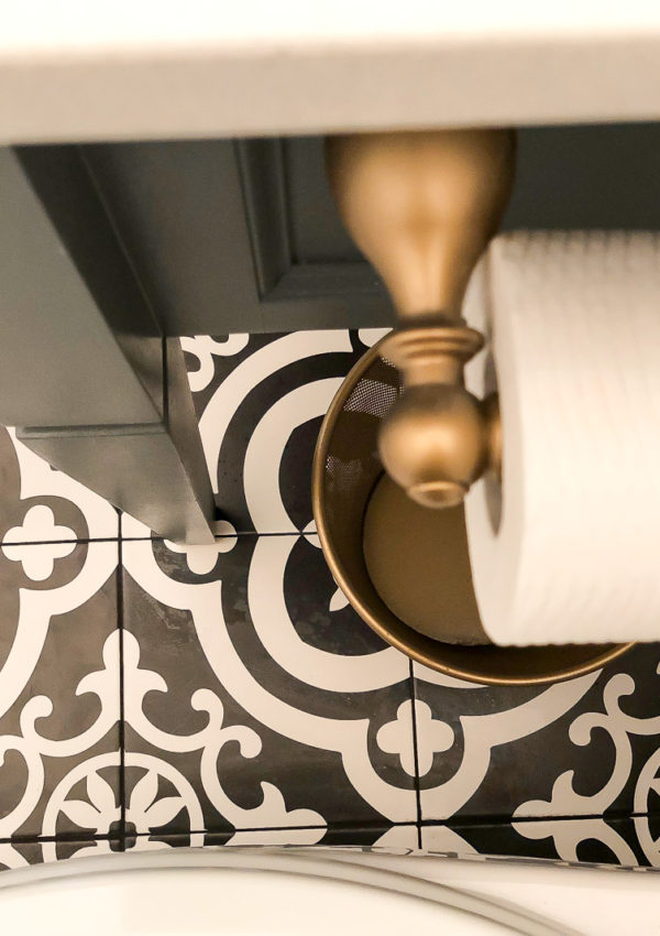 A Thrifty and stylish change to bathroom
