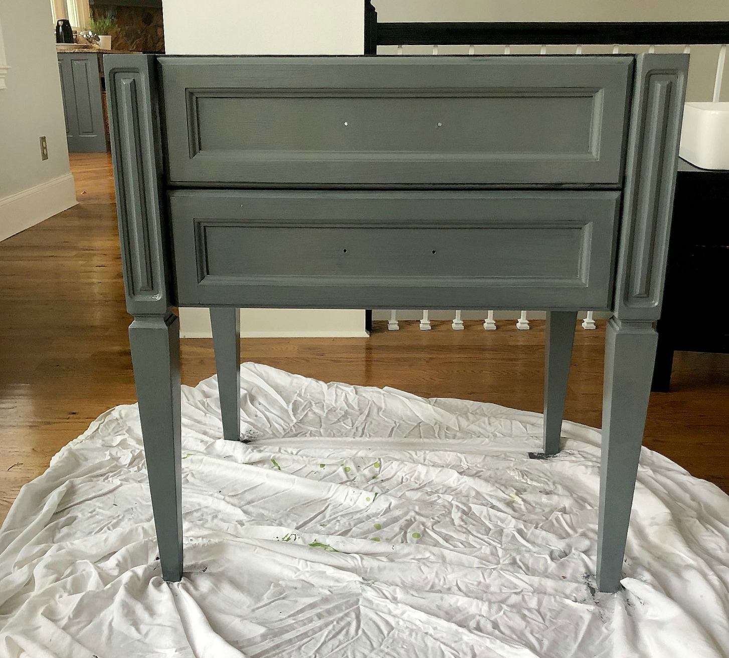 Ideas on how to update a 15 year old bathroom vanity