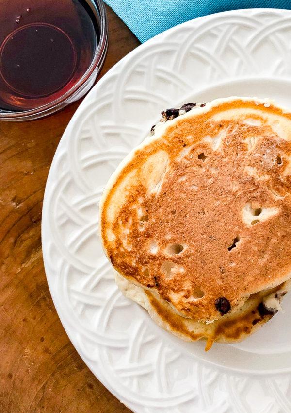 Chocolate Chip Stuffed Pancakes