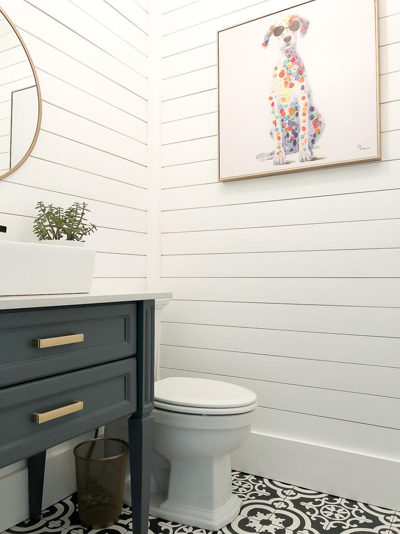 Black And White Guest Bath Reveal Duke Manor Farm