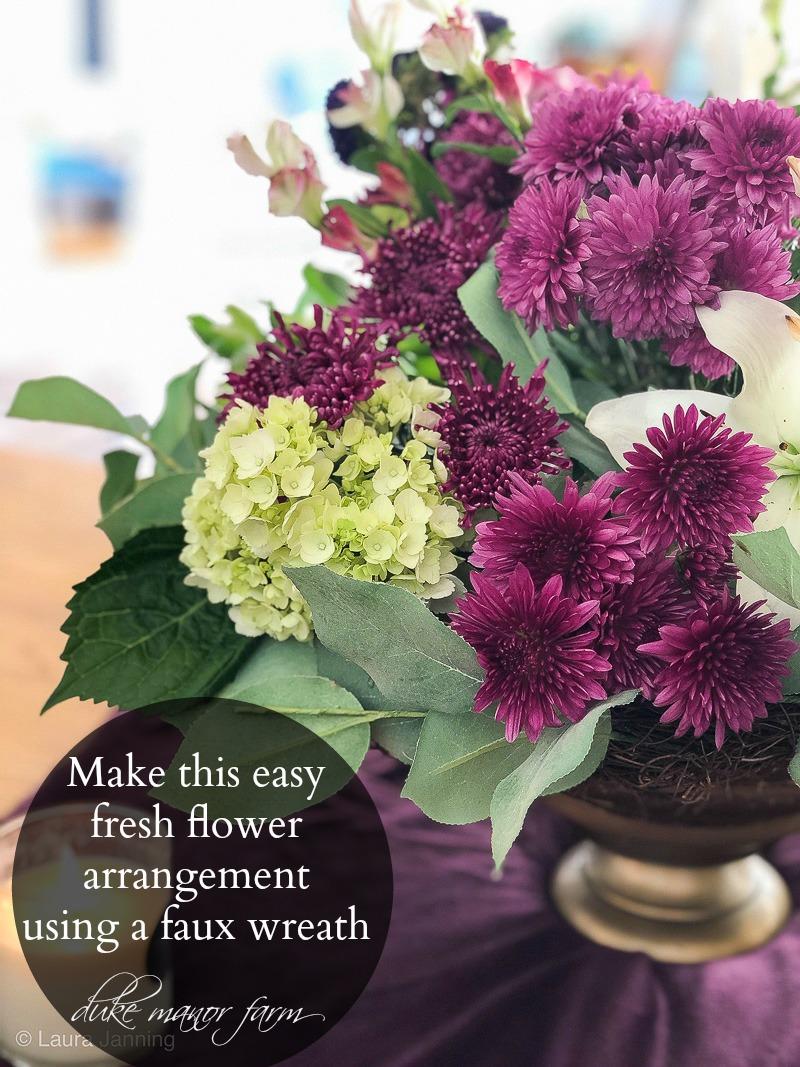 How To Turn A Summer Wreath Into A Beautiful Fall Arrangement Duke Manor Farm